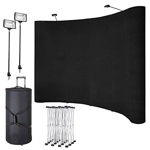 Knick Knack Supplies 8ft Portable Display Pop Up Kit w/ Spotlights by Knick Knack Supplies