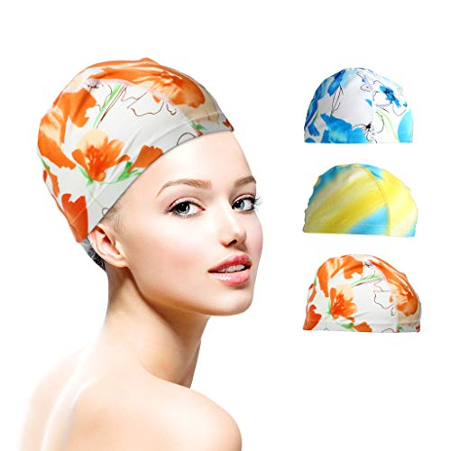 s Mix Colors Silicone color designed Lycra swimming Cap hat Bathing cap swimming hat ()