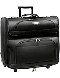 Amsterdam Rolling Garment Bag Wheeled Luggage Case, Black
