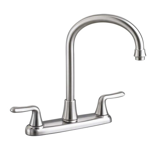 - American Standard 4275550F15.075 Colony Soft 2-Handle High-Arc Kitchen Faucet with 1.5 gpm Aerator, Stainless Steel