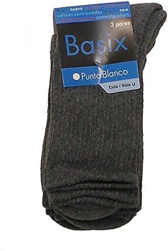 Punto Blanco - Pack 3 pares calcetines de algodón Sport: Amazon ...