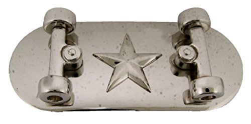 Rhinestone Chopper (Skateboard Belt Buckle Goth Tribal Tattoo Skull Chopper Metal Rhinestone Silver (Star Nautical Plain Size: 5.25