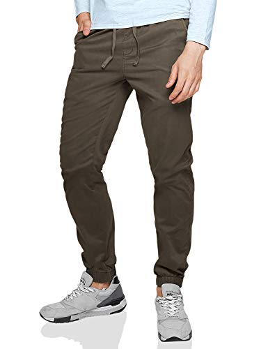 Match Men's Loose Fit Chino Washed Jogger Pant (38, 6535 Dark Khaki)