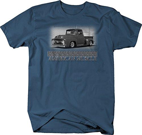 Retro - American Muscle F100 Ford F1 Hotrod Truck Pickup Retro Tshirt - 3XL