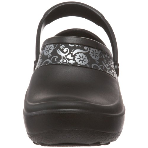 Mercy Femme Noir Women Crocs Work silver Sabots black pw4Od4nqRx