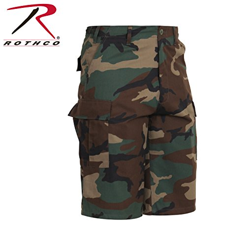 7765 Xtra Long Woodland Camo Fatigue Shorts XLARGE