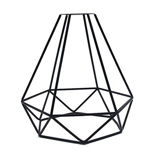 Tenrry Geometric Pendant Metal Lamp Guard Retro Vintage Ceiling Light Shade Iron Cage