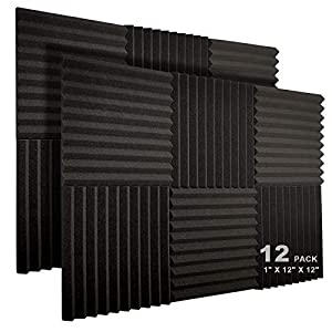 JBER 12 Pack Acoustic Foam Panels, 1″ X...