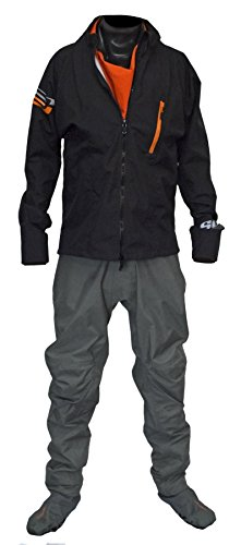 Ocean Rodeo Heat Breathable Drysuit with Softsocks 2.0 (Gen 2.0, Large King, Black)