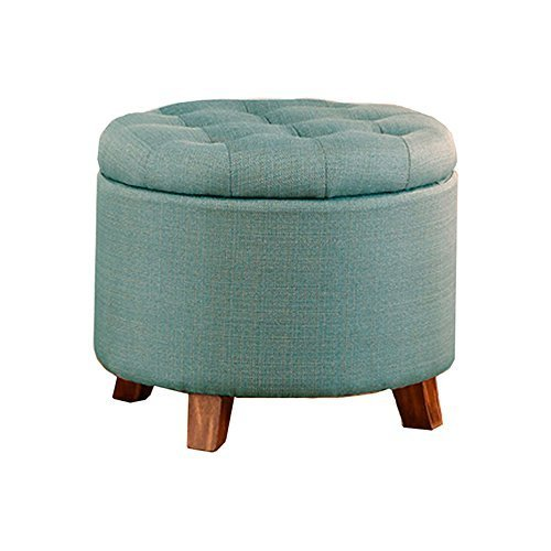 (Poundex PDEX-F7071 B0183K9SCY Ottoman, Light Blue)