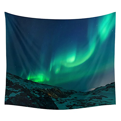 Messagee Romantic Aurora Borealis Mandala Bohemian Tapestry Wall Hanging Indian Green