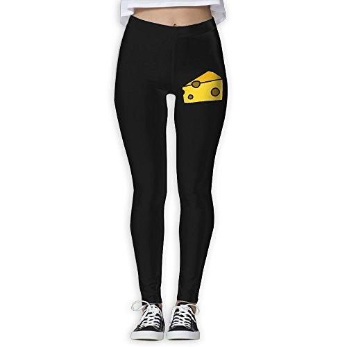 Women's High Waist Yoga Pants,Cheese Clipart Running Pants For Woman (Halloween Dress Up Clipart)