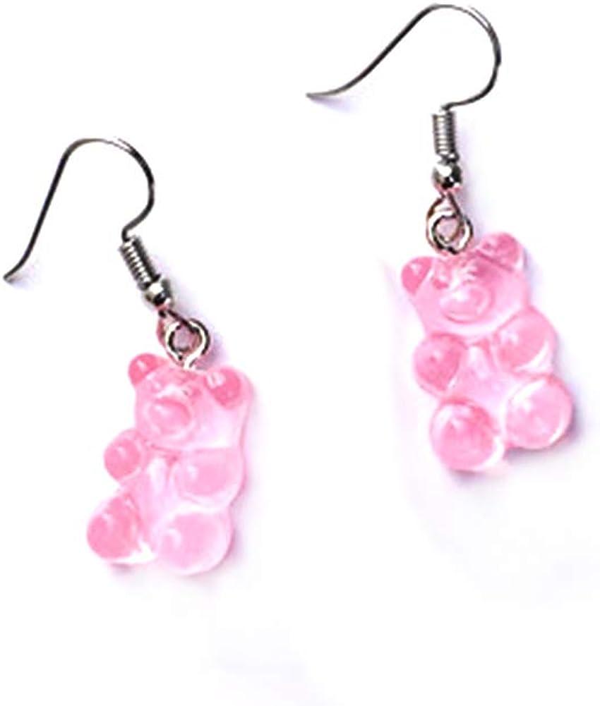 Tiande Creative Food Fruit Acrylic Big Drop Dangle Stud Earrings for Women Girls