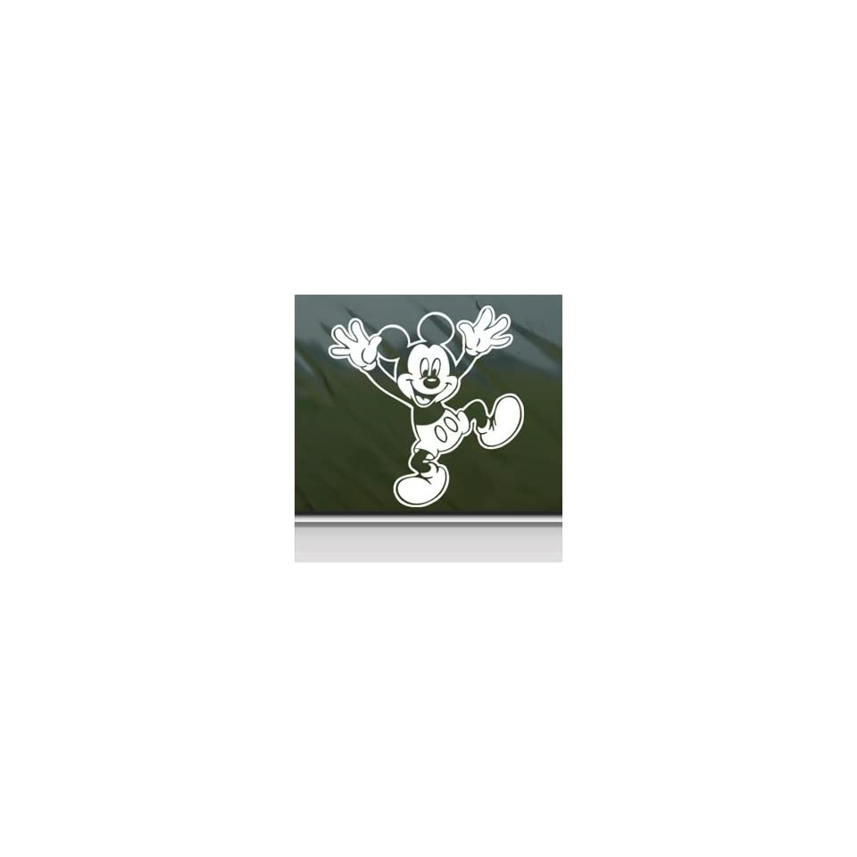 MICKEY MOUSE DISNEY White Sticker Car Vinyl Window Laptop White Decal