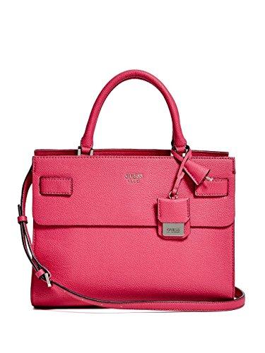 GUESS Women's Cate Satchel Fuchsia Handbag