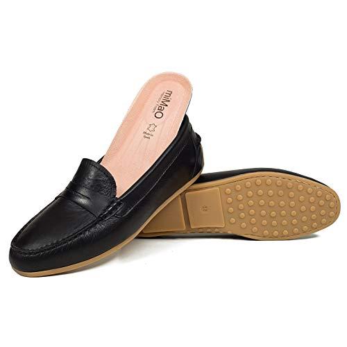 Mujer Piel Negro Zapatos España En Mocasín Zapato Foam Cómodo ZiXukPOT