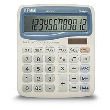 calculadora de mesa leomat gs0800 12 dígitos: Amazon.es: Oficina y ...