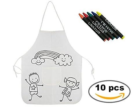 Lote de 10 Delantales para pintar para niños - Labores, Manualidades ...