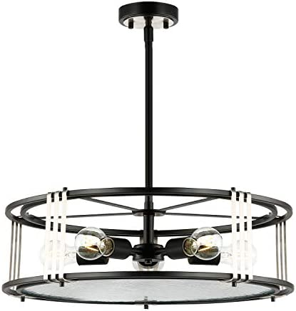 Light Society LS-C361-BK-CL Roque 5-Light Chandelier