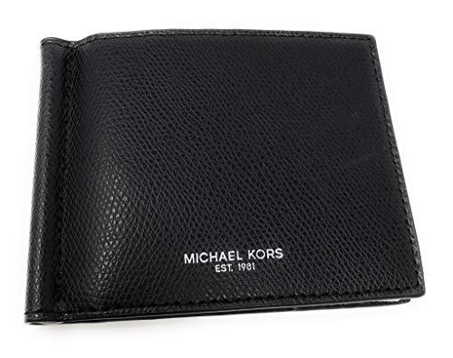 Michael Kors Men's Warren Leather Billfold Bifold Money Clip Wallet ()