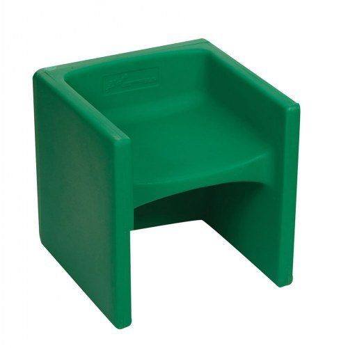 Childrens Factory Chair Cube - Green (Cube Chairs Kids)