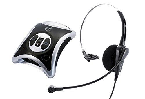 Headset System Plus Package - Business Phone Headset + Headset Amplifier - Noise Cancel, Volume Control and Lot features by InnoTalk