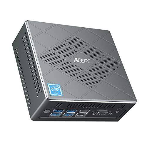 ACEPC CK6 Mini PC,Windows 10 Pro Intel Core i5-5257U 8GB DDR/128GB mSATA SSD Industrial Mini Computer, 4K/HDMI VGA DP…
