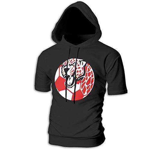ZOE-SHOP Jaguar Soccer Mens Hipster Hip Hop Short Sleeve Longline Pullover Hoodies Shirts -