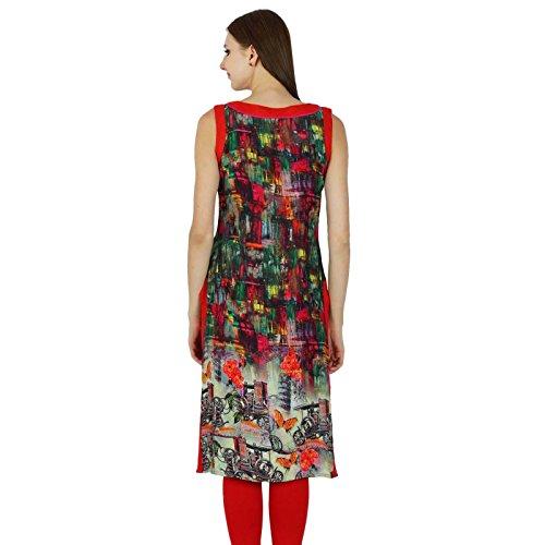 Diseñador indio de Bollywood Kurta Mujeres étnico Kurti causal Rayón vestido superior de la túnica