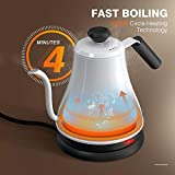 Gooseneck Electric Kettle, Pover Over Coffee and
