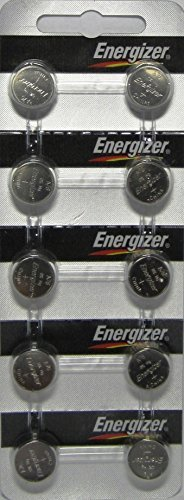 Strip of 10 Energizer A76 (LR44) 1.5v Alkaline Batteries (Watch Laser Pointer)