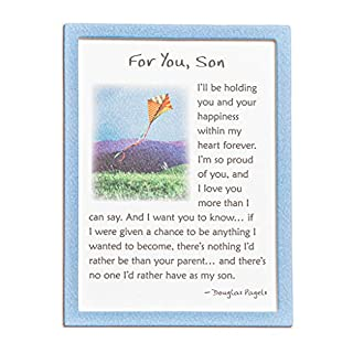 "Blue Mountain Arts Miniature Easel Print with Magnet""For You, Son"" 4.9 x 3.6 in, Perfect Birthday, Graduation, Christmas, or ""I Love You"" Gift for a Wonderful Son, by Douglas Pagels"