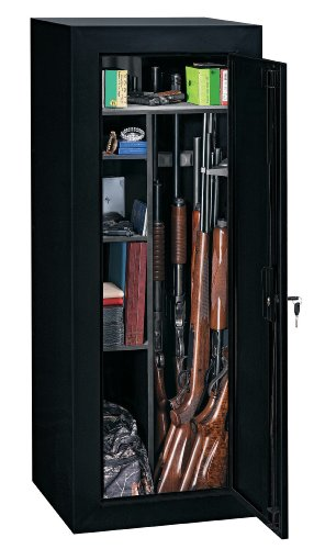 Review Stack-On GCB-18C Steel 18-Gun Convertible Steel Security Cabinet, Black
