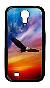 Samsung Galaxy S4 Case,Customize Ultra Slim Flying Eagle Hard Plastic PC Blcak Case Bumper Cover for S4