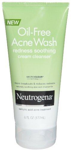 Neutrogena acné sans huile de lavage Rougeurs Apaisant Crème nettoyante