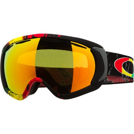 Oakley Canopy Tanner Hall Snow Goggles (Black Frame/Fire Iridium Lens), Outdoor Stuffs