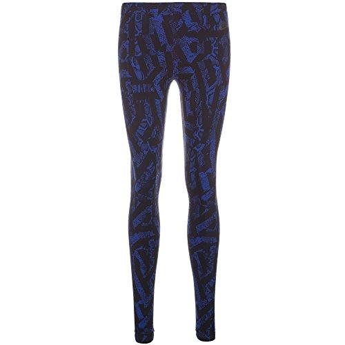 Nike Women's Leg-A-See AOP Printed Leggings - Deep Royal Blue/Black (Medium)
