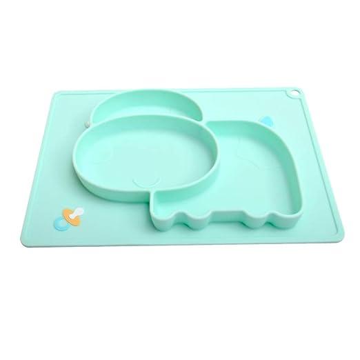 Hefine - Plato de silicona para bebé, antideslizante, sin ...