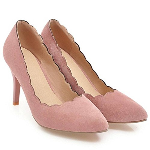 Fashion Shoes Heel Women Pink High TAOFFEN Pumps p5RgAqAw