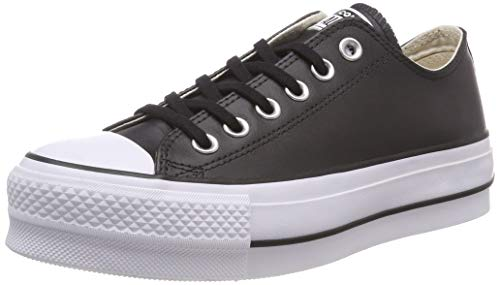 Converse Women's Chuck Taylor All Star Lift Clean Sneaker, Black/White, 8 M US