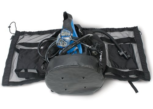 Armor #173 Gear Wrap Mesh Backpack with Easy Zipper Entry for Scuba Diving and Snorkeling Gear - Easily Pack and Unload Your Gear ()