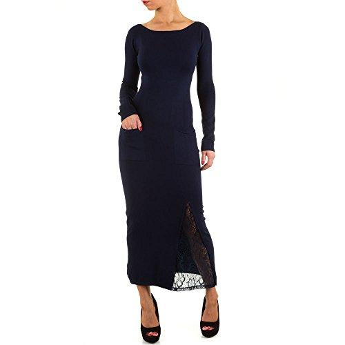 Spitzen Maxi Kleid Für Damen bei ItalDesign Dunkelblau cmyLNN6 ...