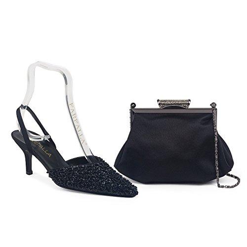 FARFALLA - Zapatos con correa de tobillo mujer negro