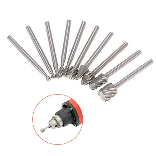 - yanbirdfx 10Pcs 3mm Wood Engraving Carving Router Bit Rotary Burrs Electric Grinding Tool