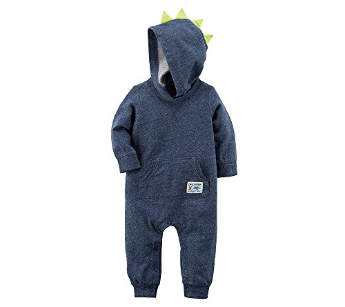 (Carter's Baby Boys' Long Sleeve Spike Hooded Jumpsuit 24 Months)