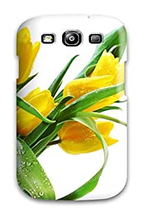New Snap-on JakeNC Skin Case Cover Compatible With Galaxy S3- Beautiful Tulip Flowers Images