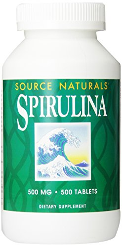 SOURCE NATURALS Spirulina 500 Mg Tablet, 500 Count