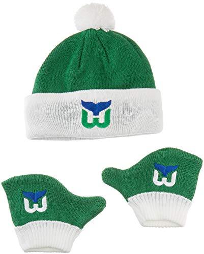 OTS NHL Hartford Whalers Pow Knit Cap & Mittens Set, Kelly, Infant