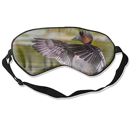 Goldeneye Duck Mindfold Sleeping Eye Mask for Women Men Girls Adults Eyepatch Blindfold Shade Travel Natural Sleep Aid Cover Light Guide Relax