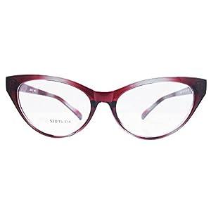 Agstum Ladies Womens Cat eye Glasses Frame Optical TR90 Eyeglasses (Gradient red)